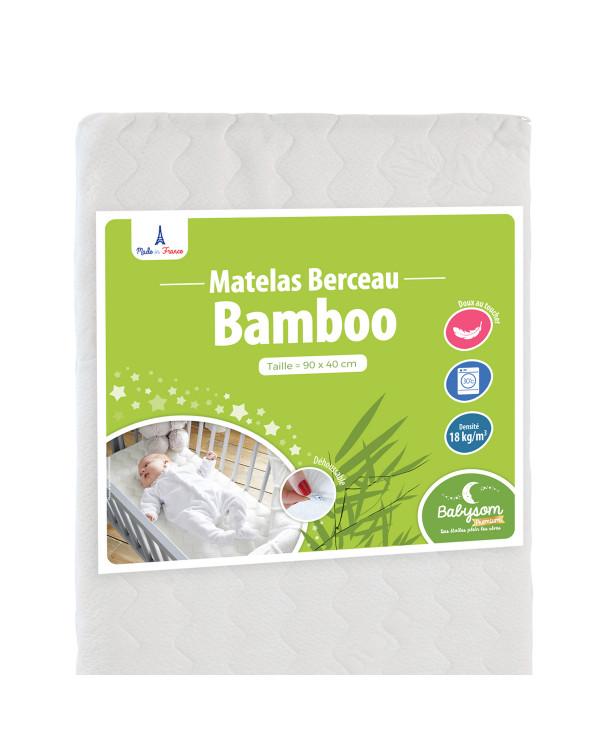 Matelas berceau Bamboo 90 x 40