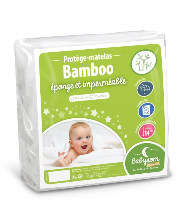 Protège matelas éponge bamboo