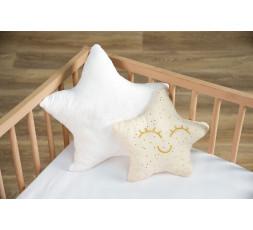 Pack 2 coussins étoile or + étoile personnalisable