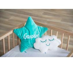 Pack 2 coussins étoile + nuage personnalisable